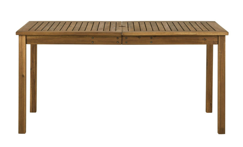 WE Furniture Acacia Wood Patio Simple Dining Table - Brown | Kipe it