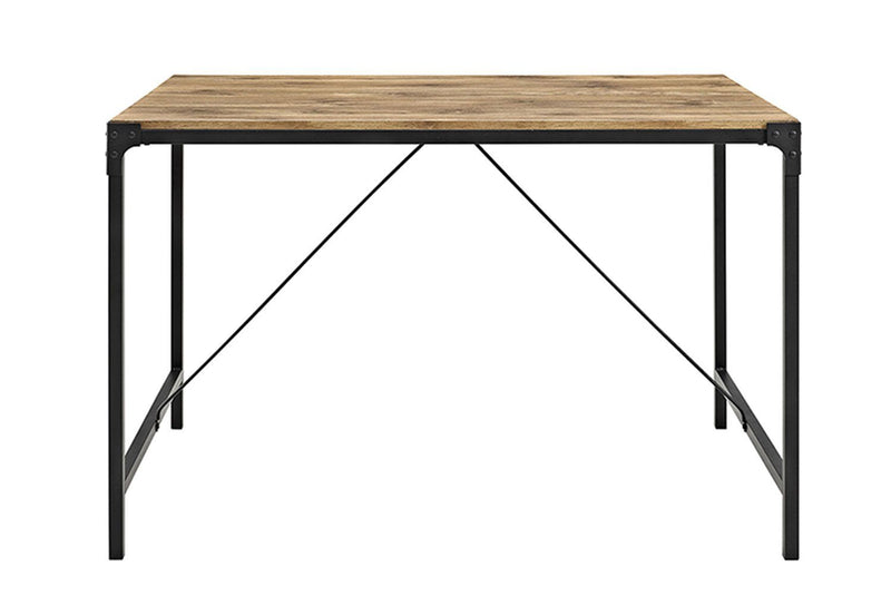 "48"" Angle Iron Wood Dining Table, Barnwood"