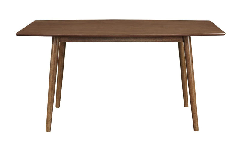 "WE Furniture 60"" Wood Mid Century Design Kitchen Dining Table - Brown"