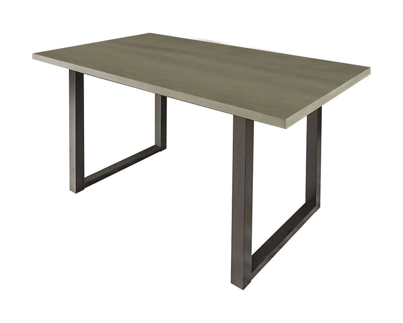 "WE Furniture Contemporary Style 60"" Madison Wood Dining Table - Aged Grey"