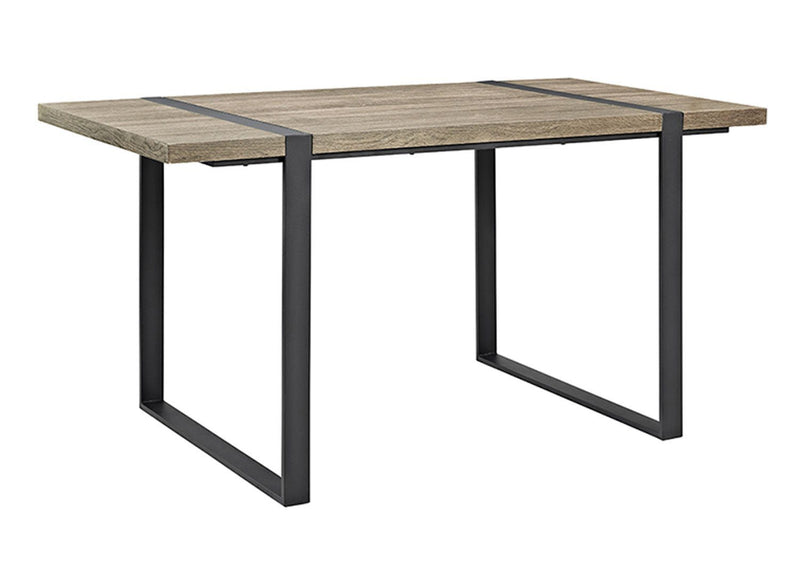 "WE Furniture 60"" Urban Blend Wood Dining Table with Powder Coated Metal Frame - Driftwood"