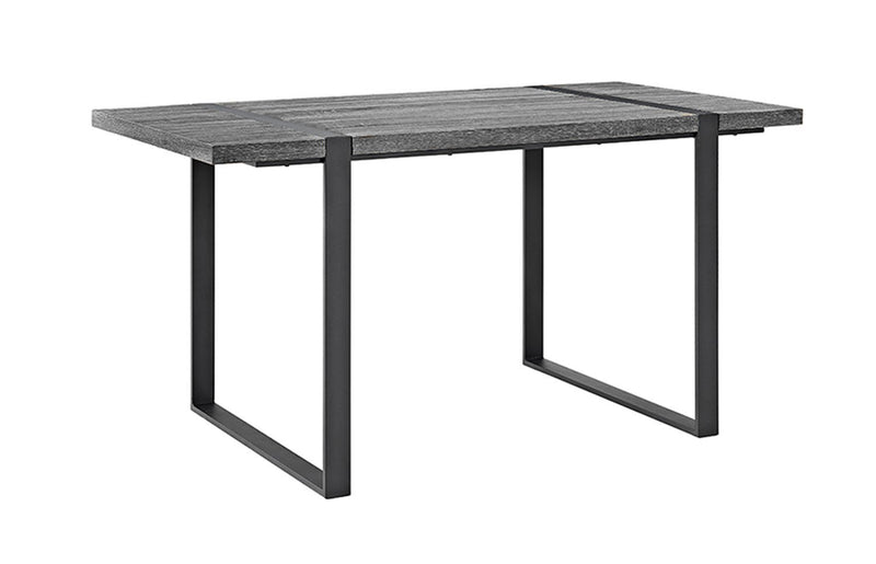 "WE Furniture 60"" Urban Blend Wood Dining Table with Powder coated Metal Frame - Charcoal"