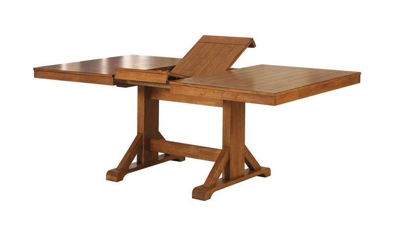 "WE Furniture Antique Brown Wood Kitchen Dining Table - 30""H x 60-77""W x 40""L"