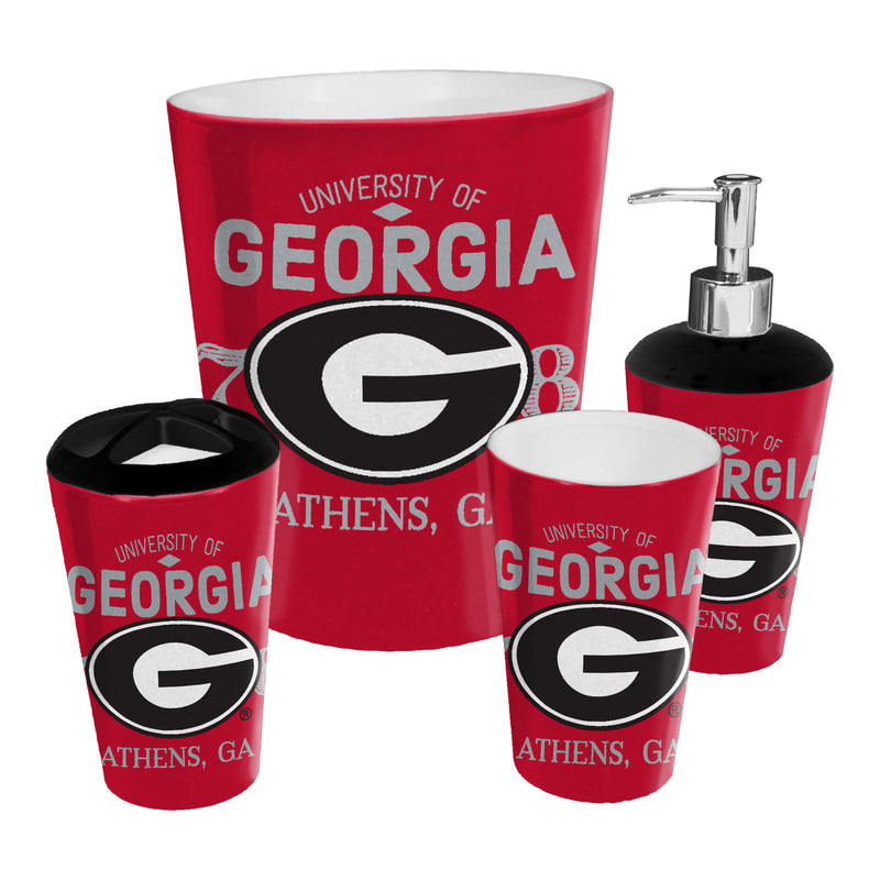 Georgia OFFICIAL Collegiate 4-Piece Bath Set | Kipe it