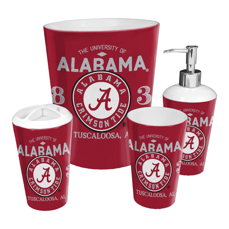 Alabama OFFICIAL Collegiate 4-Piece Bath Set | Kipe it
