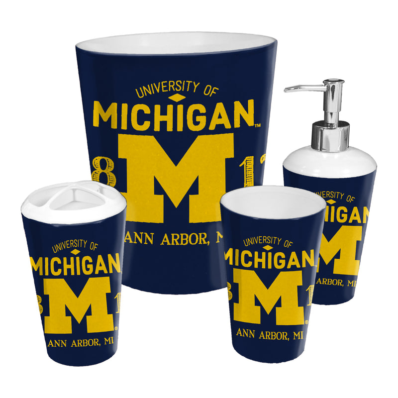 Michigan OFFICIAL Collegiate 4-Piece Bath Set | Kipe it