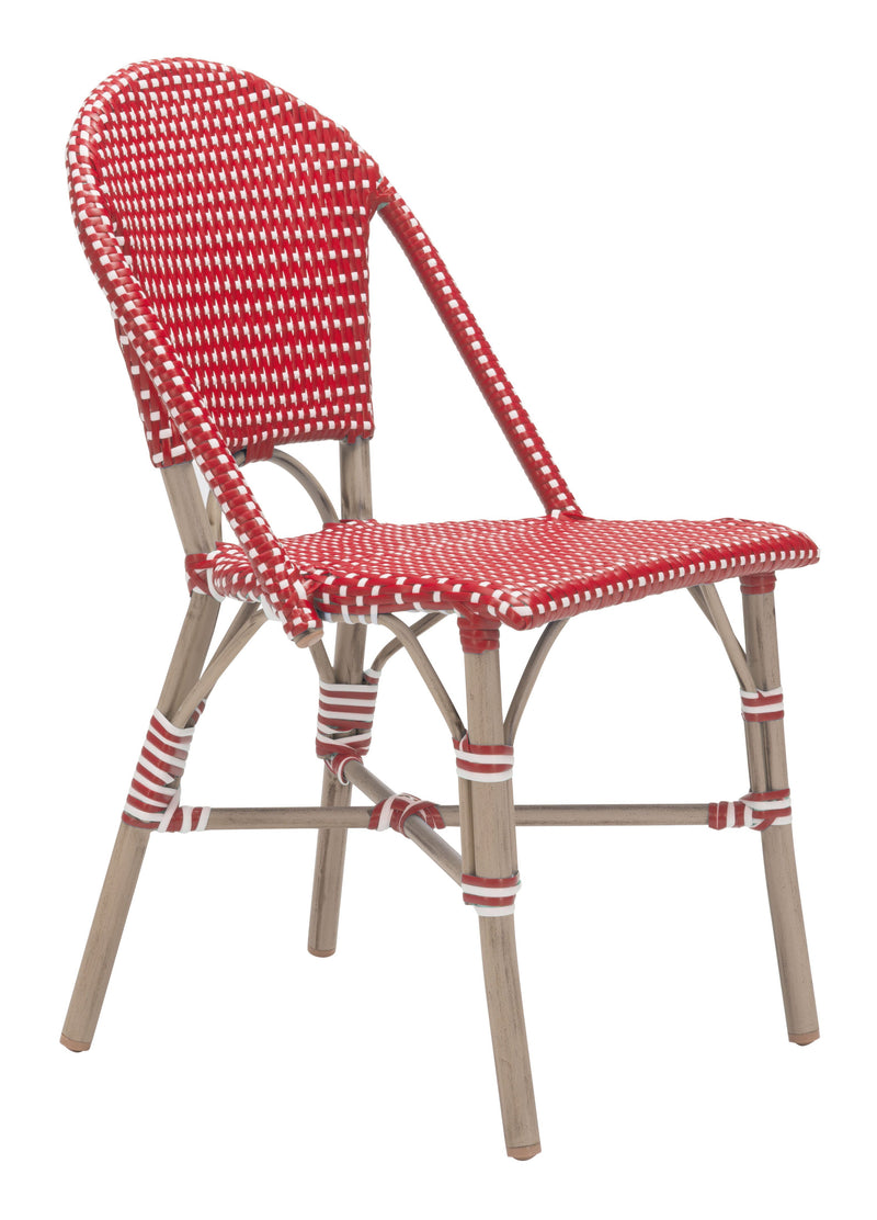 Paris Dining Chair Red&White (Set of 2)