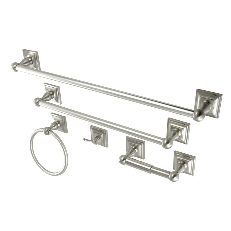 Kingston Brass BAHK3212478SN Bathroom Accessory Combo, Satin Nickel - Satin Nickel | Kipe it