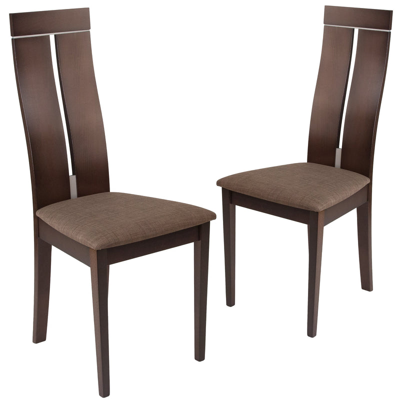 2 Pk. Avalon Wood Dining Chair with Clean Lines and Fabric Seat