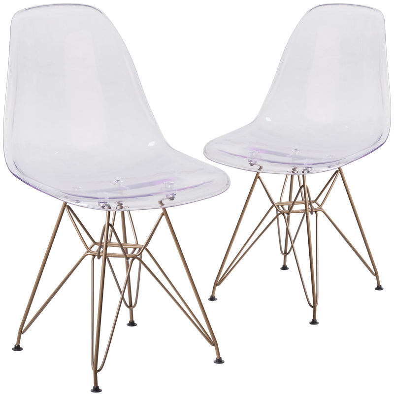 2 Pk. Elon Series Chair with Gold Metal Base