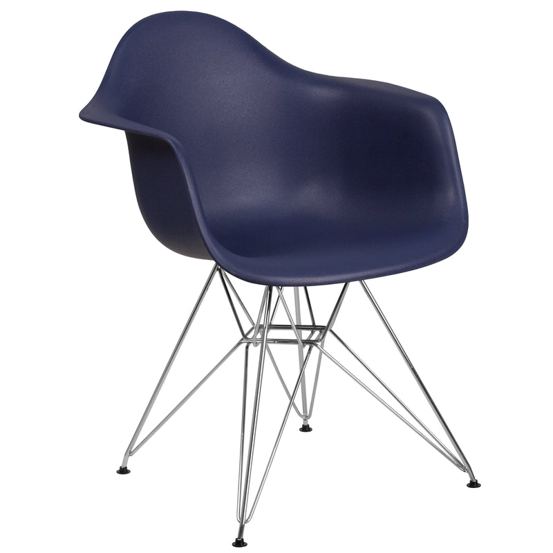 Alonza Series Plastic Chair with Chrome Base