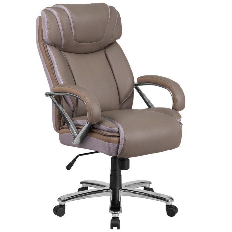 HERCULES Series 500 lb. Capacity Big & Tall Leather Executive Swivel Office Chair with Extra Wide Seat | Kipe it