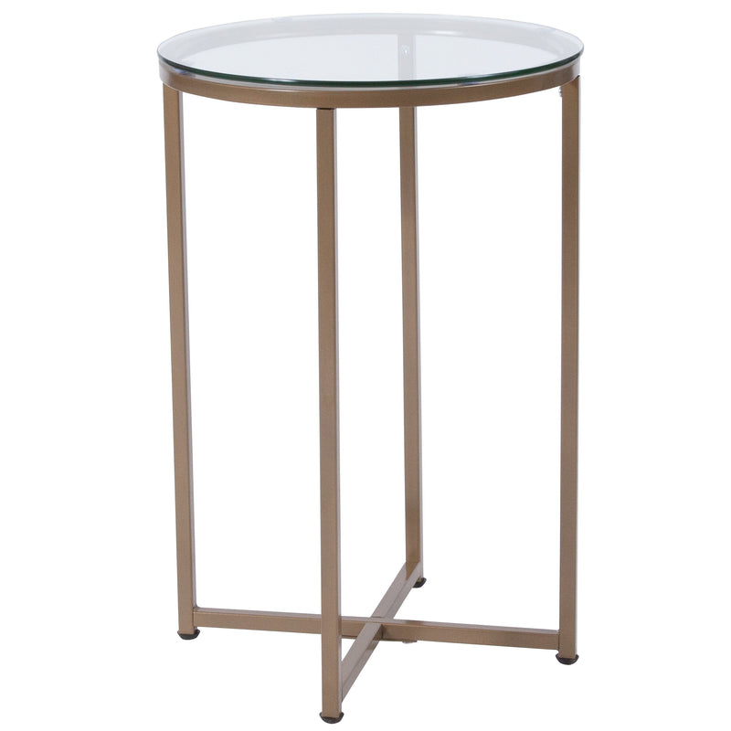 Greenwich Collection End Table with Metal Frame | Kipe it
