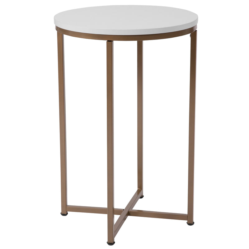 Hampstead Collection End Table with Metal Frame | Kipe it