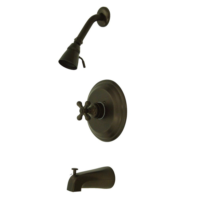 Kingston Brass KB3635AX Restoration Tub & Shower Faucet, Oil Rubbed Bronze - Oil Rubbed Bronze | Kipe it
