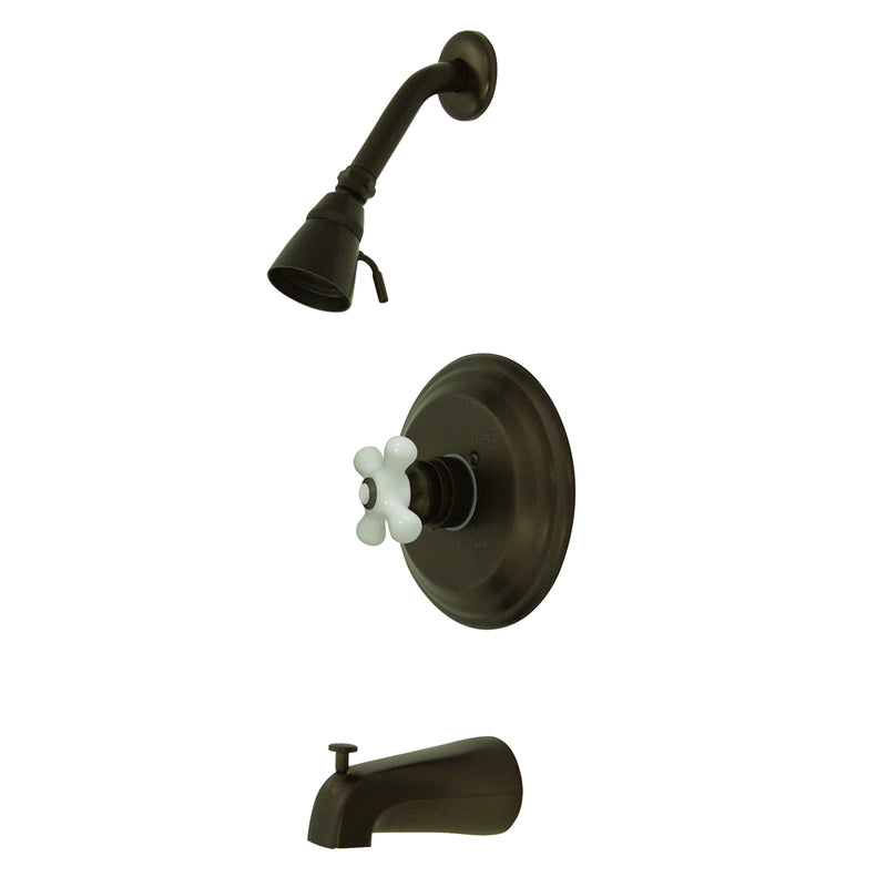 Kingston Brass KB3635PX Restoration Tub & Shower Faucet, Oil Rubbed Bronze - Oil Rubbed Bronze | Kipe it