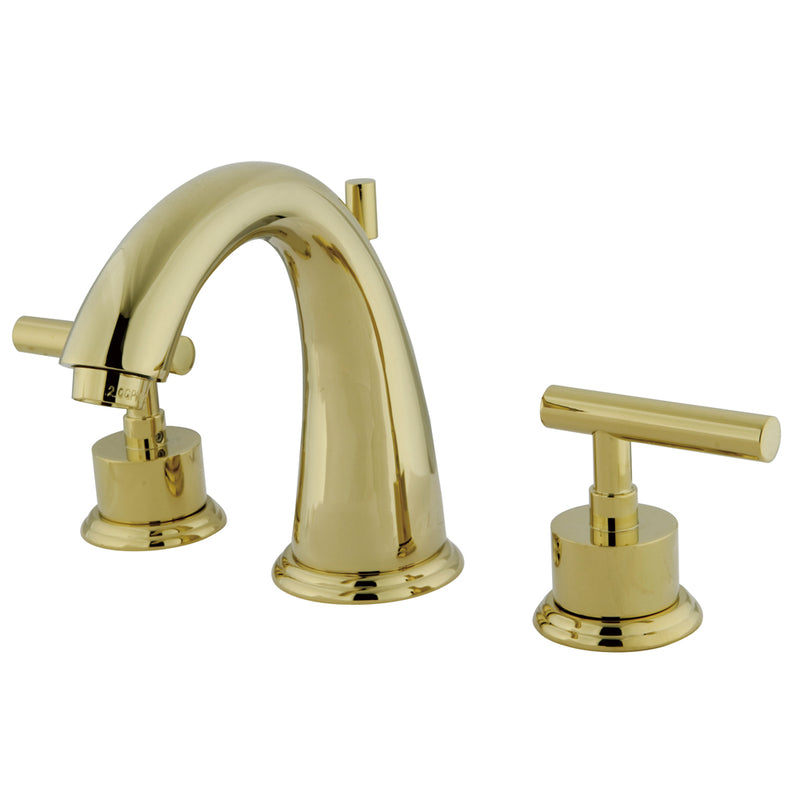 Kingston Brass KS2962CML Widespread Lavatory Faucet, Polished Brass - Polished Brass | Kipe it