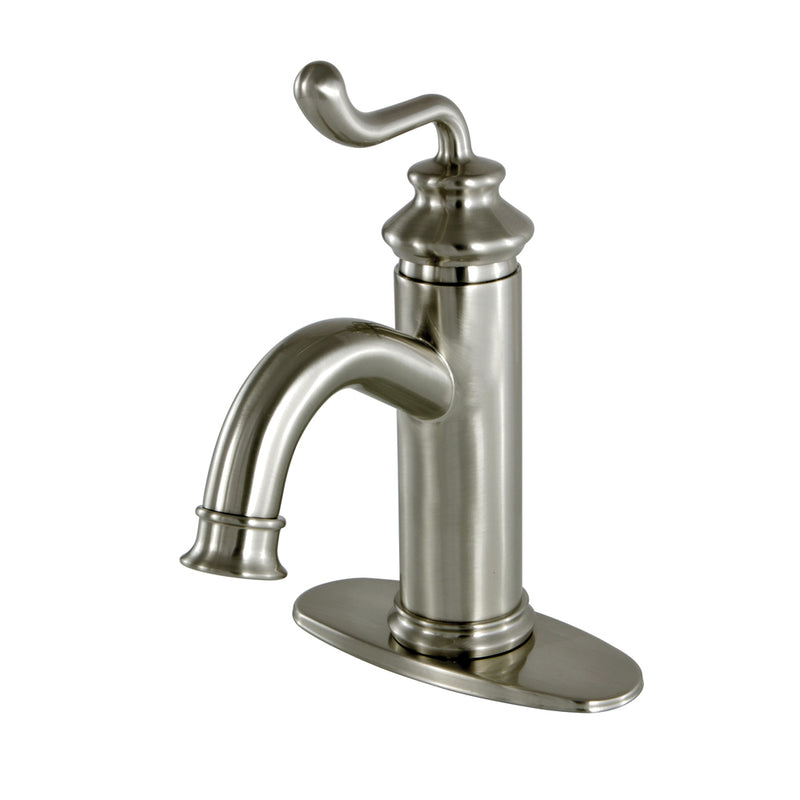 Fauceture LS5418RL Royale Single Handle Monoblock Lavatory Faucet, Satin Nickel - Satin Nickel | Kipe it