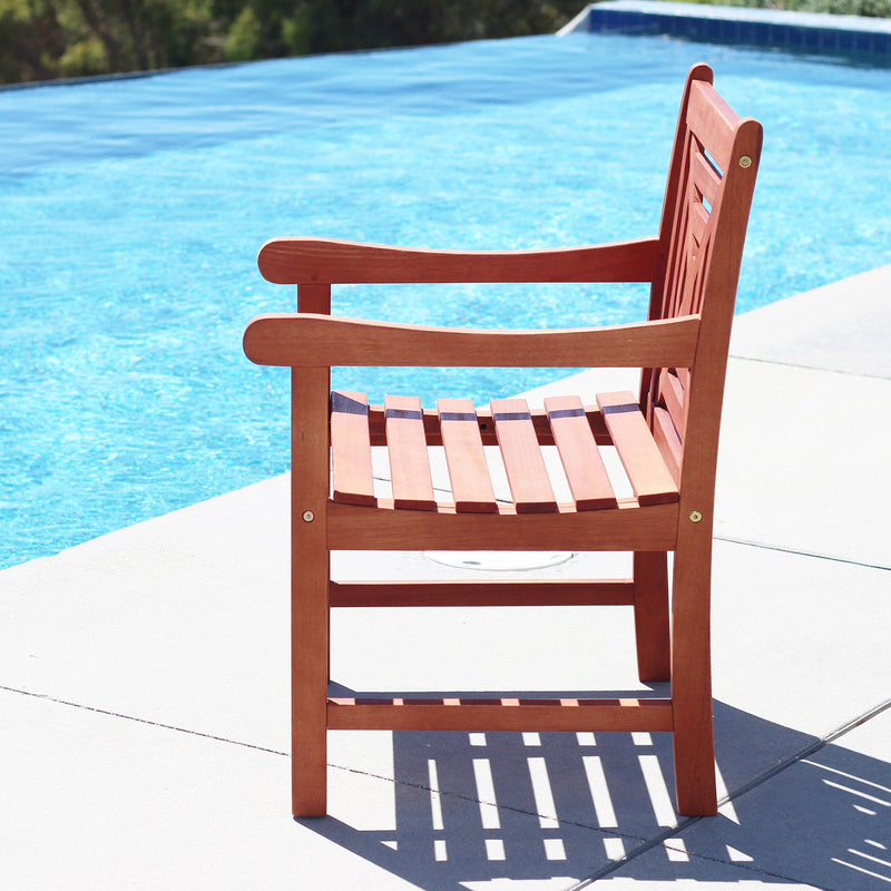 Malibu Eco-friendly Outdoor Hardwood  Garden Arm Chair