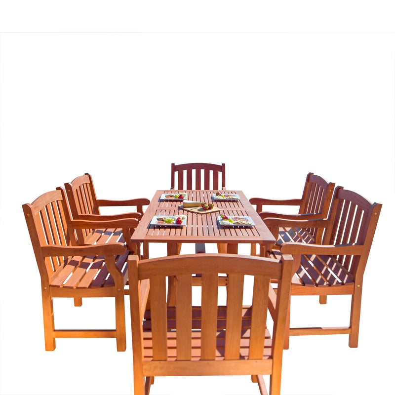 Outdoor Rectangular Curvy Dining Set 27 | Kipe it
