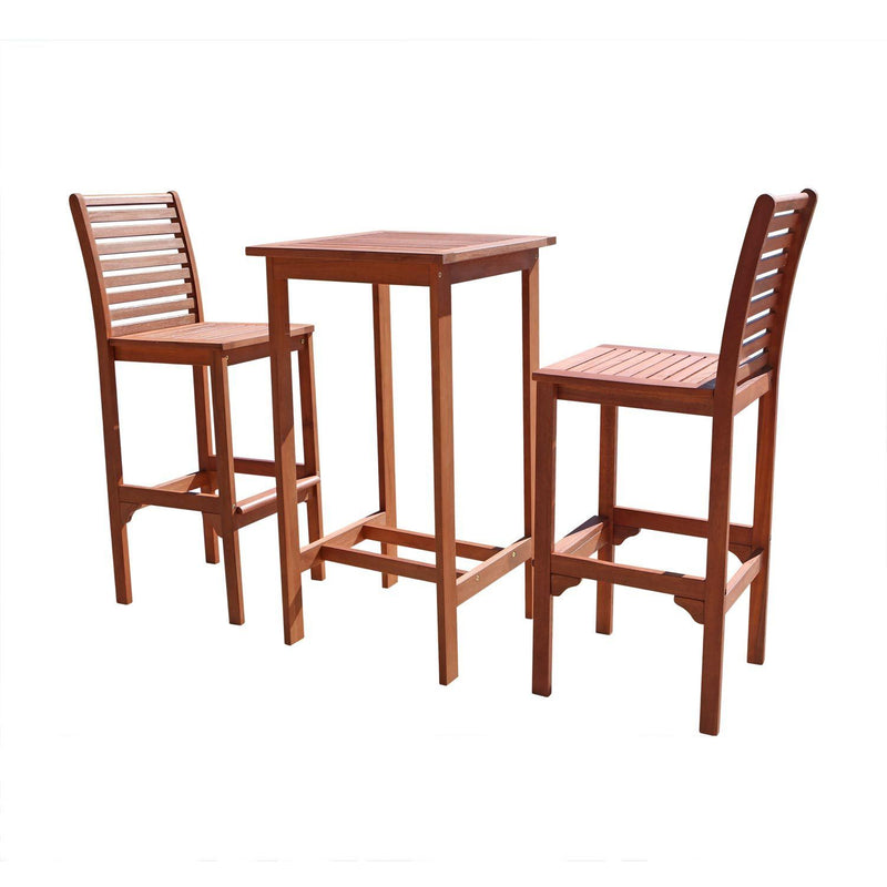 Dartmoor  Eucalyptus Wood Bar Dining Set | Kipe it
