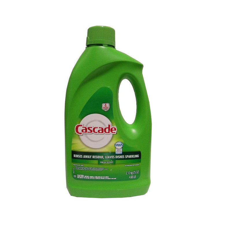 CASCADE Dishwasher Detergent Fresh Scent Gel Phosphate Free 6/75 Oz | Kipe it