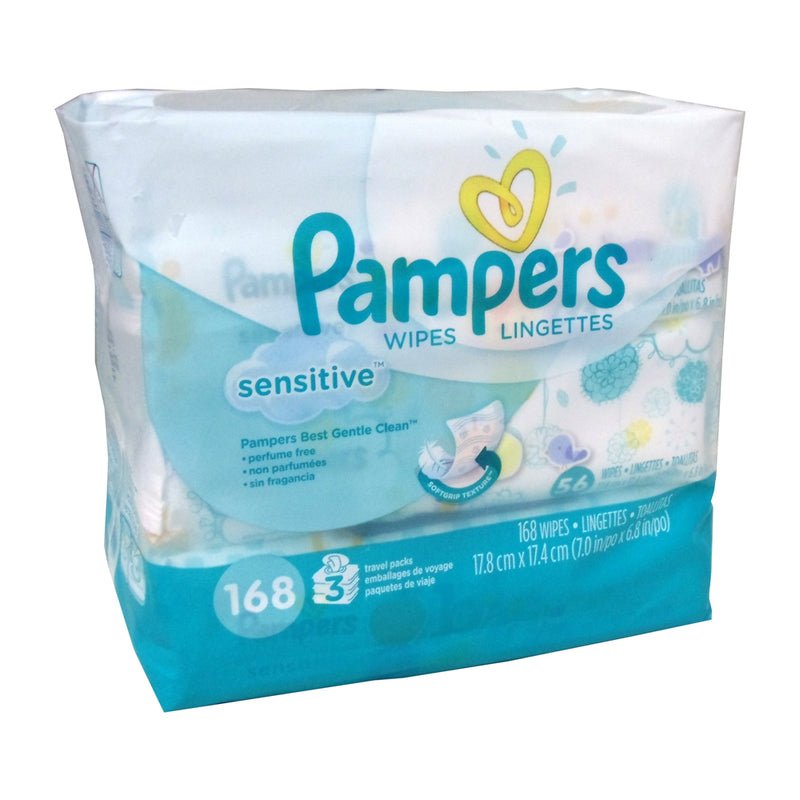 PAMPERS Wipes Perfume free 4 bags of 168 wipes | Kipe it