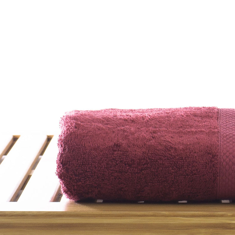 Luxury Hotel & Spa Towel 100% Genuine Turkish Cotton Hand Towels - Cranberry - Bamboo  - Set of 6 | Kipe it