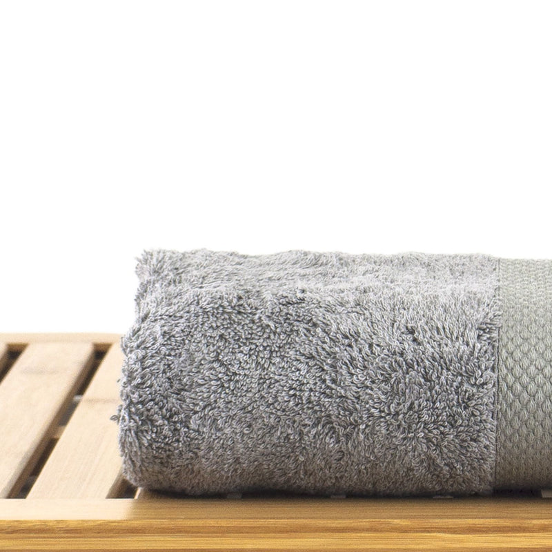 Luxury Hotel & Spa Towel 100% Genuine Turkish Cotton Hand Towels - Gray - Bamboo  - Set of 6 | Kipe it