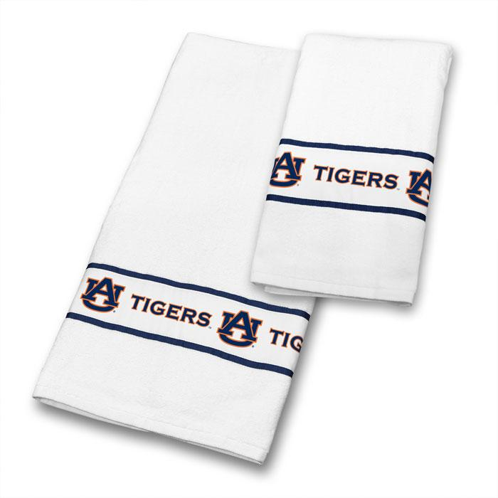NCAA Auburn Tigers Towel Set College Bathroom Accessories | Kipe it