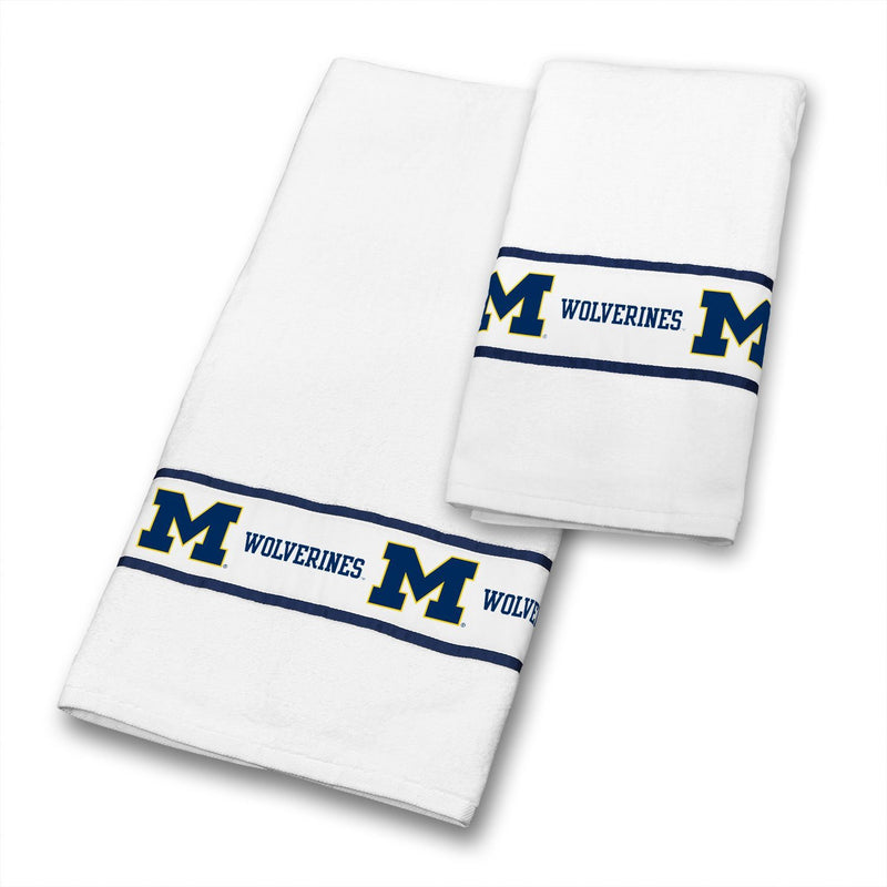 NCAA Michigan Wolverines Towel Set College Bath Accessories | Kipe it