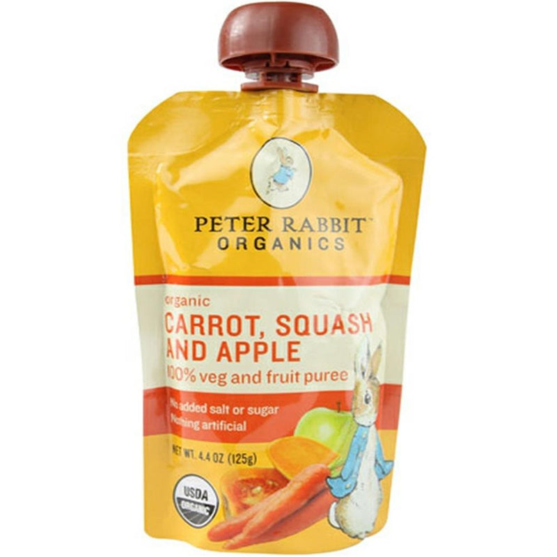 Peter Rabbit Organics - Carrot, Squash & Apple Puree ( 10 - 4.4 OZ) | Kipe it