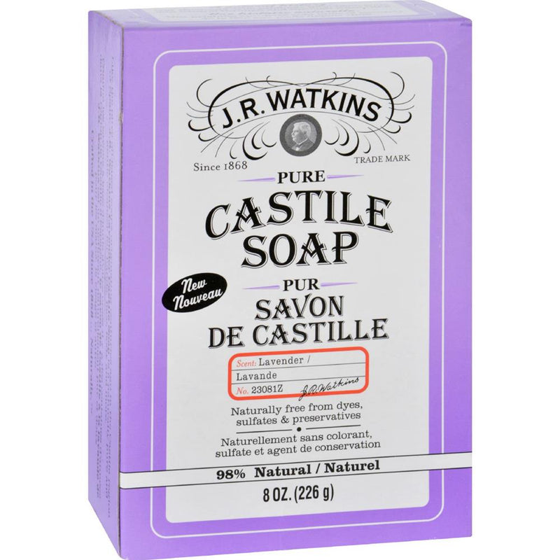 J.R. Watkins - Castile  Bar Soap - Lavender ( 3 - 8 OZ) | Kipe it
