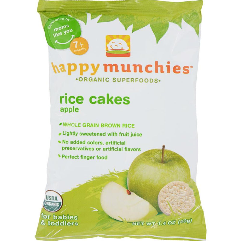 Happy Family - Happy Munchies Rice Cakes - Apple ( 10 - 1.4 OZ) | Kipe it