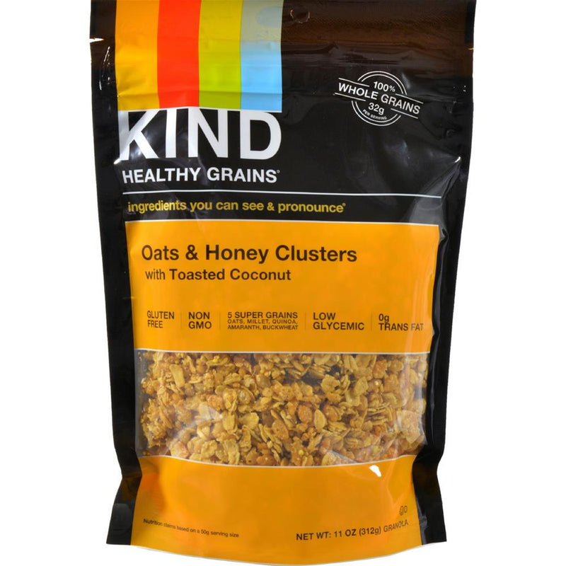 Kind Fruit and Nut Bars - Healthy Grains Oats And Honey Clusters With Toasted Coconut ( 6 - 11 OZ) | Kipe it