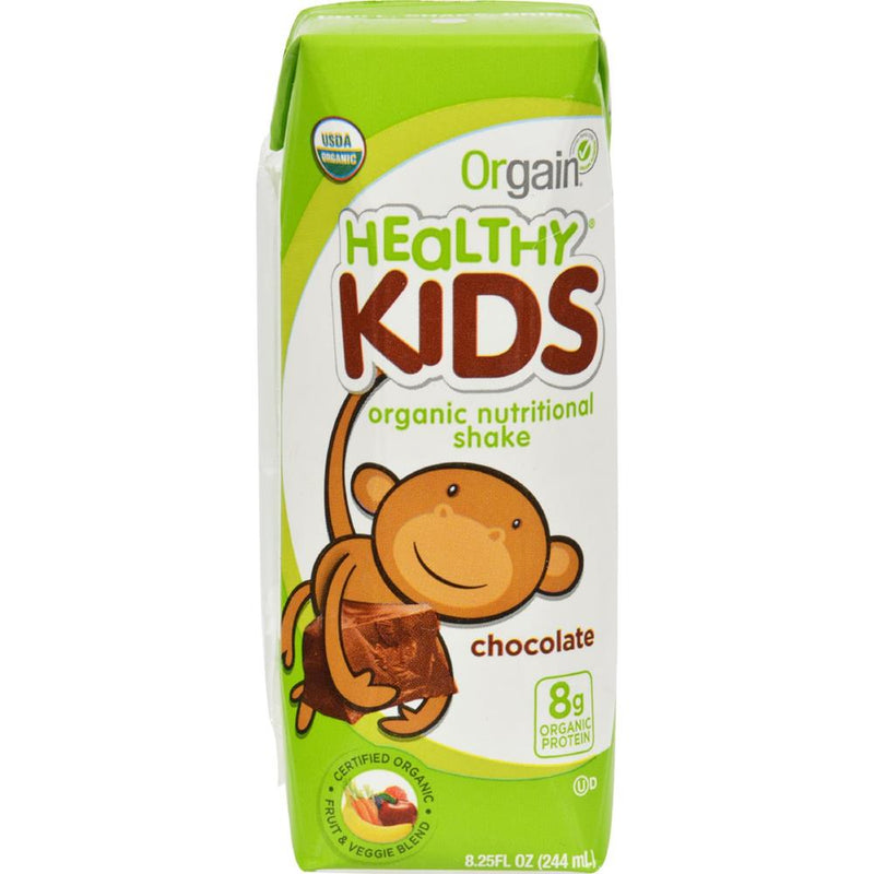 Orgain  - Organic Kids Chocolate Nutrition Shake ( 12 - 8.25 FZ) | Kipe it