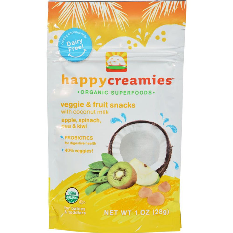 Happy Family - Organic Snacks - Apple Spinach Pea Kiwi ( 8 - 1 OZ) | Kipe it