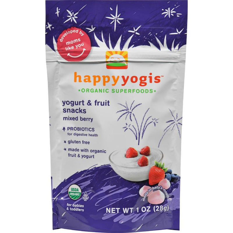 Happy Family - Organic Superfoods Yogurt And Fruit Snacks - Mixed Berry ( 8 - 1 OZ) | Kipe it