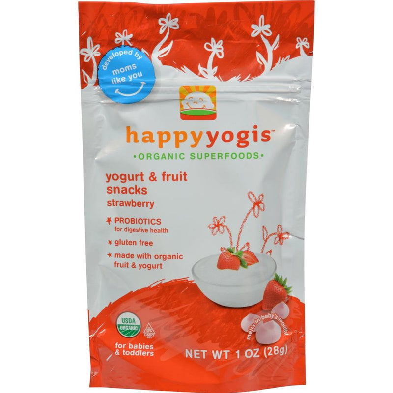 Happy Family - Organic Superfoods Yogurt And Fruit Snacks - Strawberry ( 8 - 1 OZ) | Kipe it