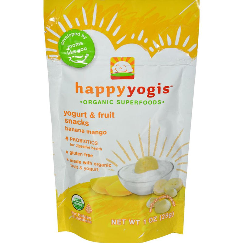 Happy Family - Organic Yogurt Snacks For Babies And Toddlers - Banana Mango ( 8 - 1 OZ) | Kipe it