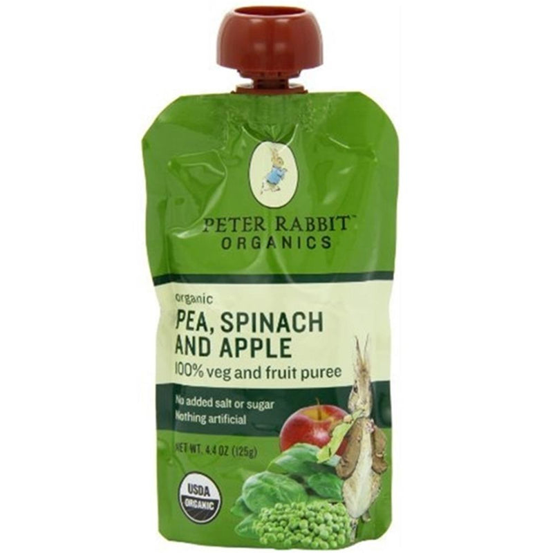 Peter Rabbit Organics - Pea, Spinach & Apple Puree ( 10 - 4.4 OZ) | Kipe it