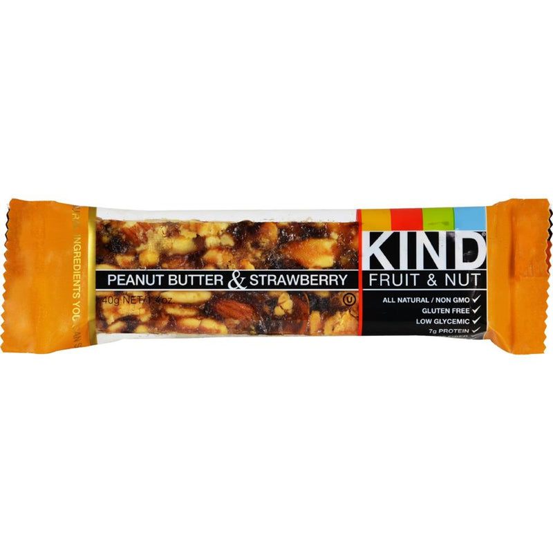 Kind Fruit and Nut Bars - Peanut Butter And Strawberry Bars ( 12 - 1.4 OZ) | Kipe it