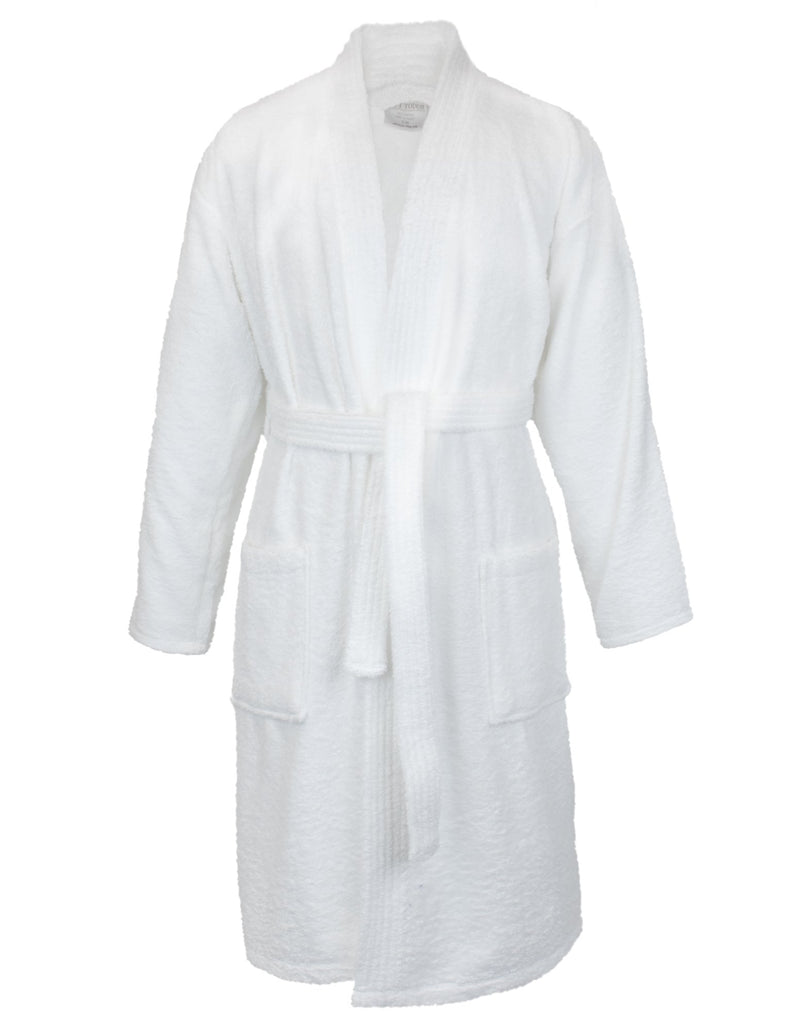 Bare Cotton 100% Turkish Cotton Men Terry Kimono Robe, One Size, White | Kipe it