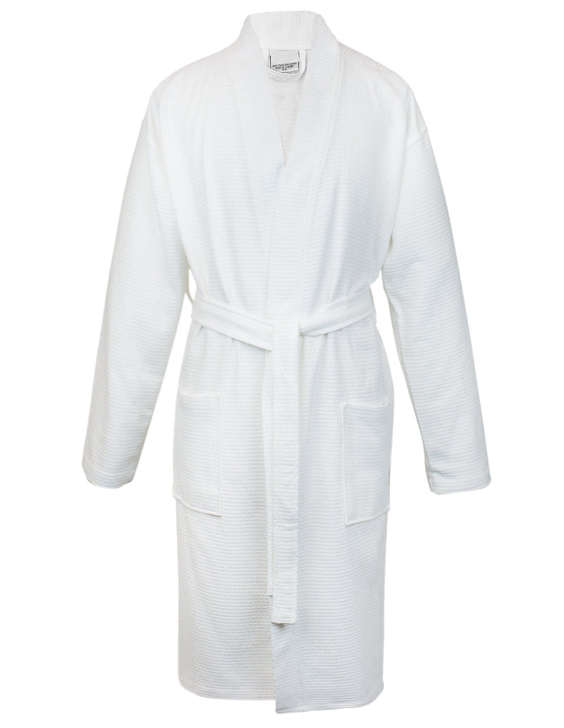 100% Turkish Cotton Women Waffle Kimono Robe (White, One Size) | Kipe it