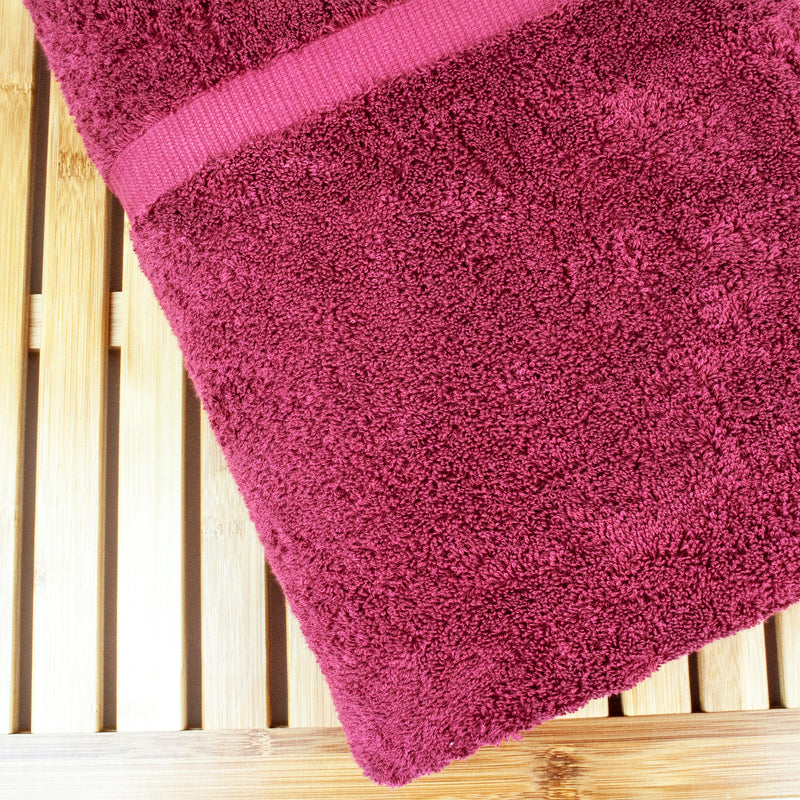 Luxury Hotel & Spa Towel Turkish Cotton Bath Sheets - Cranberry - (35x70 inches, Set of 1) | Kipe it