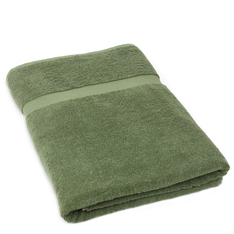 Luxury Hotel & Spa Towel Turkish Cotton Oversize Large Bath Towels - Moss - (35x70 inches, Set of 1) | Kipe it