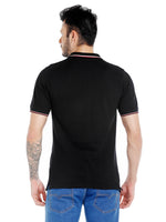 ZIDO Solid Men's Polo Neck BLACK T-Shirt TSHPOL110
