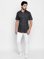 ZIDO Slim Fit Cotton Printed Shirt for Men's PN1409