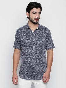 ZIDO Slim Fit Cotton Printed Shirt for Men's PN1410