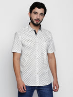 ZIDO Slim Fit Cotton Printed Shirt for Men's PN1411